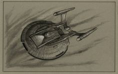 Drawing of Enterprise NX-01 that was on the wall of Captain Archer's ready room