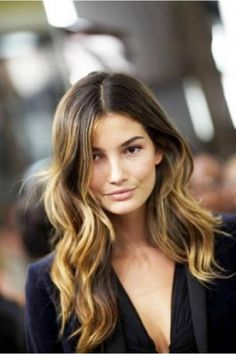 Love the ombre technique in a hairstyle like this