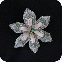 money origami flower
