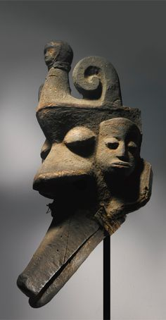 Africa | Mask from the Ibibio people of Nigeria | Wood | Prior to 1970s