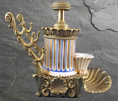 French Hydraulic Inkstand with Pen Rest