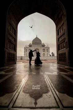 """Puneet Bhojwani """"Prewed at Taj Mahal"""" album - Love Story Shot - Bride and Groom in a Nice Outfits. Pre Wedding Poses, Pre Wedding Shoot Ideas, Wedding Couple Poses Photography, Pre Wedding Photoshoot, Fantasy Photography, Wildlife Photography, Travel Pose, Bollywood Couples, Muslim Couples"""