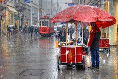 Beyoğlu'nda Kar
