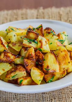 Parmesan Garlic Roasted Potatoes - so crispy and delicious, done to perfection!