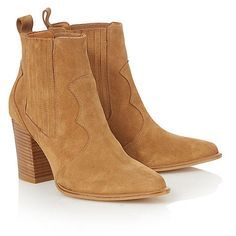 Faith Tan 'Blossom' leather ankle boots | Debenhams