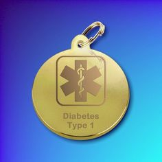 Gold Plated Medic Alert or I.C.E tag DISC (Medium)