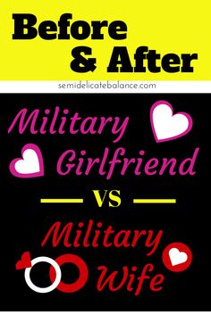 """Someone was asking the """"upgrade"""" in privileges from being a military girlfriend to a military wife. This got me thinking about the differences between the unmarried and married"""