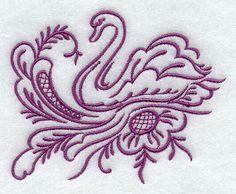 Simply Rosemaling Svane design (H4172) from www.Emblibrary.com