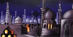 disney concepts & stuff Visual Development from Aladdin by Hans Bacher