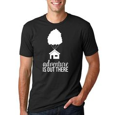 """Disney Up Shirt """"Adventure is out there"""" // Men's Disney Shirt // Plus Size Disney Shirts // Disney's Up Movie Shirt, Disney Vacation Shirt"""