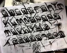 Tattoo Lettering Alphabet, Graffiti Lettering Alphabet, Gothic Lettering, Font Art, Script Lettering, Lettering Design, Chicano Tattoos Lettering, Tattoo Lettering Styles, Gothic Alphabet