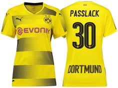 Borussia Dortmund #30 Felix Passlack 17-18 Home Short Shirt Women