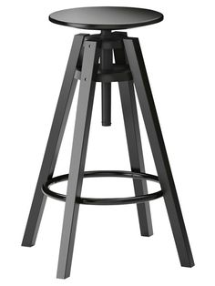 """The Dalfred barstool adjusts from 24 3/4"""" to 29 1/8"""" tall"""