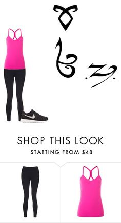 """shadowhunters chapther 1"" by hope2002 ❤ liked on Polyvore featuring Sweaty Betty, Lorna Jane, NIKE, Rune NYC and Runa"