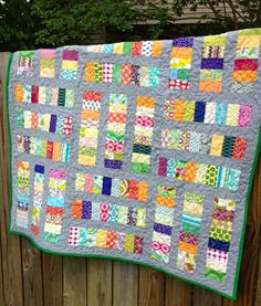 Coins on the Sidewalk | My Quilt Infatuation  -- this would be great for using up scraps.