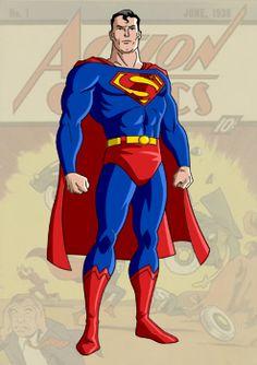 Golden Age Superman by ~trisaber on deviantART