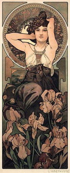 Alphonse Mucha - Edelsteine: Amethyst