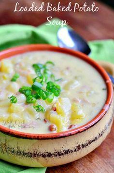 Greatest Baked Potato Soup Ever! from willcookforsmiles.com #soup #potatosoup