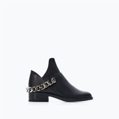ZARA - NEW THIS WEEK - OPEN LEATHER BOOTIE WITH CHAIN