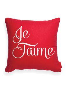 Je Taime Red Throw Pillow