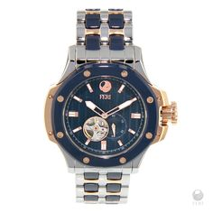 Automatic watch, Rose Gold Watch, Navy Blue, Rose gold and silver Watch by FeriStore on Etsy