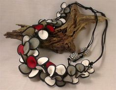Gathered Petals - Polymer Clay Necklace | Conversations in Clay | madeit.com.au