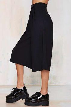 Dawn to Dusk Culottes - Black - Pants
