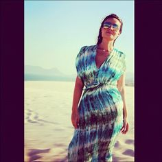 Luisa Malta linda com vestido Marché Lapin! #dress #dunes #sand #glasses #woman #girl #silk