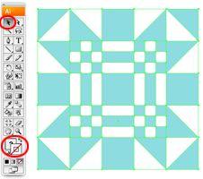 Illustrator Tutorial: How to Create a Quilt Block