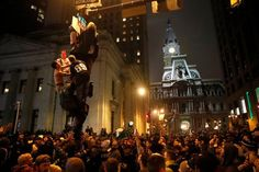 Philadelphia Erupts in Celebration and Unruliness After Victory