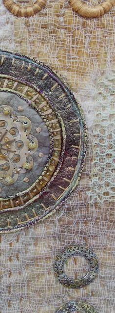 fiber art collage by Rebekah Meier ILANA - are you ready for fiber collage?  Xo,S