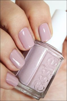 Essie lady like-my favorite barely there color. Nude with a bit of purple. Love it!