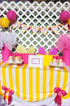 Butterfly party favor table included butterfly wings and butterfly catchers to dress up and play with… Little butterfly crayons were in matching yellow striped boxes for them to take Butterfly Party Favors, Butterfly Garden Party, Butterfly Birthday Party, First Birthday Parties, Birthday Party Themes, First Birthdays, Birthday Ideas, Yellow Birthday, Butterfly Table
