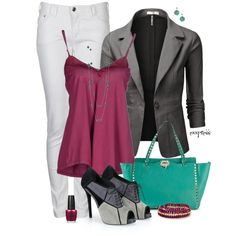 """""""Teal and Fuchsia"""" by exxpress on Polyvore"""