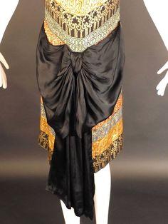 1920s Gold Bullion Flapper Evening Dress. Detail