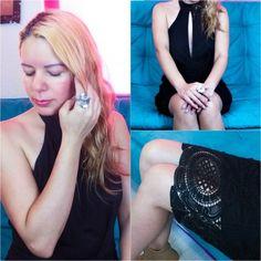 LBD http://www.eldiariodecandy.com/lbd #fashionblogger #crochet #bohochic #lace #blackdress