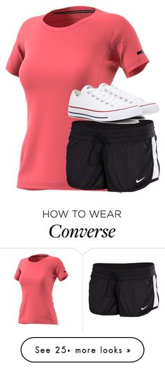 """""""Untitled #2728"""" by laurenatria11 on Polyvore featuring adidas, NIKE and Converse"""