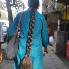 Image may contain: one or more people and outdoor Plaits Hairstyles, Indian Hairstyles, Beautiful Braids, Beautiful Long Hair, Indian Long Hair Braid, Indian Natural Beauty, Big Bun, Super Long Hair, Braids For Long Hair