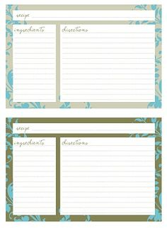 Printable Recipe Cards 4X6 Free | Recipe Friday: Favorite Cake & Free Recipe Cards | A Winding Road