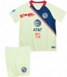 0a99cb121 2018-19 Cheap Youth Kit Club America Home Replica Yellow Kid Suit  CFC606