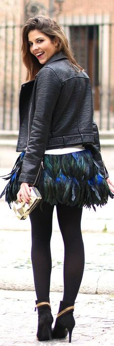 #Feathers Can Rock too !! | by TrendyTaste to share on http://trendytaste.com/2013/12/26/feathers-can-rock-too/