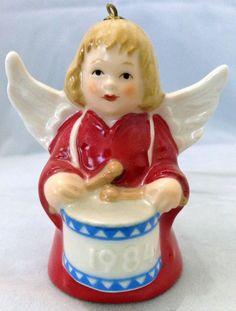 Vintage 1984 Goebel Angel Bell Christmas Ornament Mint in Box