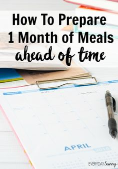 Want to try making once a month meals? These once a month meal planning tips and resources will get started the right way. via (Easy Meal Prep Mom) Freezer Cooking, Freezer Meals, Cooking Tips, Food Tips, Family Meal Planning, Menu Planning, Make Ahead Meals, Easy Meals, Weeknight Meals