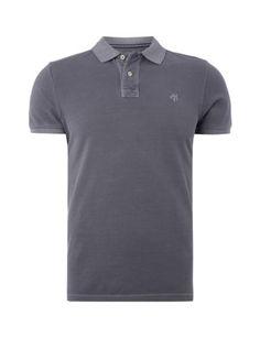 MARC-O-POLO Poloshirt im Washed Out-Look in Grau / Schwarz online entdecken (9465779) | P&C Online