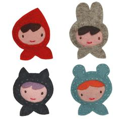 Giddy Giddy Hair Clip | Miss Red, Rabbit, Bear or Cat from Milk Tooth  #easter #eastergifts #eastergiftideas