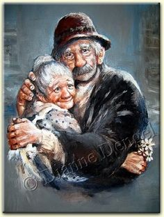 DIY Full Drill Diamond Painting Older Couples Art Cross Stitch Mosaic Kits Couples Âgés, Vieux Couples, Older Couples, Image Couple, Image Digital, Growing Old Together, Norman Rockwell, Illustration Art, Old Things