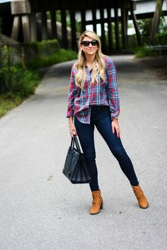 Outfit | Front Tucking Plaid Shirt