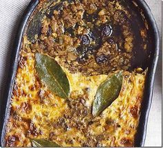 Bobotie recipe, Pronounced ba-boor-tea, the national dish of South Africa is a delicious mixture of curried meat and fruit with a creamy golden topping, not dissimilar to moussaka South African Dishes, South African Recipes, Bbc Good Food Recipes, Yummy Food, Kos, Beef Recipes, Cooking Recipes, Savoury Recipes, Savoury Pies