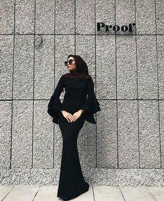 Rafidaaaaaaaah Hijab Gown, Hijab Evening Dress, Hijab Dress Party, Hijab Outfit, Muslim Fashion, Modest Fashion, Fashion Dresses, Modest Wear, Modest Outfits
