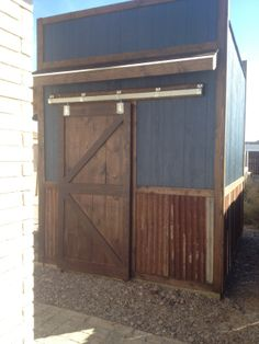 Custom Build Bar Or Storage Shed Looks Like A Modern/industrial Rustic  Saloon. Not